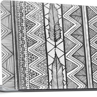 Two Feathers Monochrome... Laptop by Lisa Argyropoulos | Nuvango