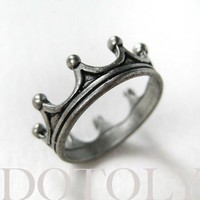 Royal Crown Princess Ring in Silver - Available in sizes 5 and 6 | smileswithlove - Jewelry on ArtFire