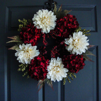 Christmas Wreath - Holiday Wreaths - Holiday Decorations - Wreaths for Door - Etsy Wreaths