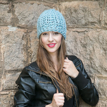 Fitted Wool Beanie ~ THE PEPPIN ~  Knit Wool Ribbed Hat