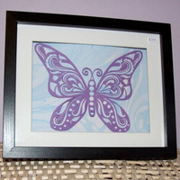 Purple Flutterby Butterfly