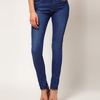 ASOS High Waist Skinny Jean in Vintage True Blue at asos.com