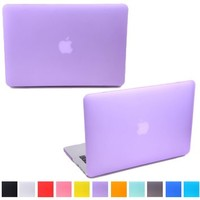 "HDE Frosted Matte Rubber Coated Hard Shell Clip Snap-on Case Skin Cover for MacBook Pro 15"" (Non-Retina) - A1286 (Purple)"