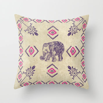 Elephant Life Throw Pillow by rskinner1122