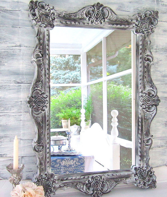 Decorative wall mirrors decorative from revivedvintage on etsy for Large wall mirrors for sale