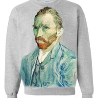 1000 Apparel   Limited Edition Van Gogh Crew Neck