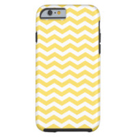 Lemon Zest Yellow And White Zigzag Chevron Pattern iPhone 6 Case
