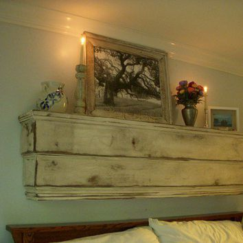Mantel - Wood Shelf - Ledge - Handcrafted Wooden Furniture - Shabby Furniture - Chic - 48 x 12 x 7