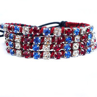 Independence Day leather wrap bracelet