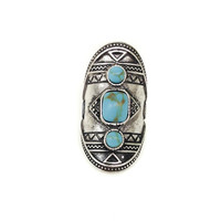 Royal Ring - One Size / Silver/Turquoise