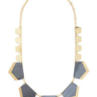 ModCloth Statement Pop of Posh Necklace