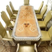 High end Italian furniture dining room table