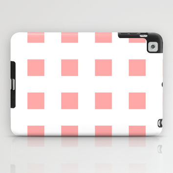 Coral Pink Cross Squares iPad Case by BeautifulHomes | Society6