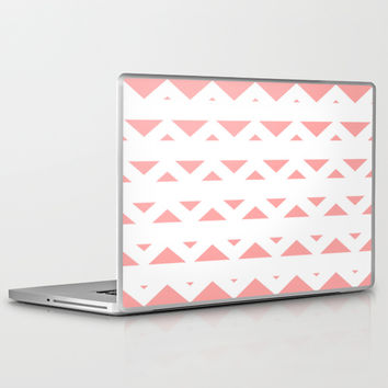 Coral Pink Tribal Triangles Laptop & iPad Skin by BeautifulHomes | Society6