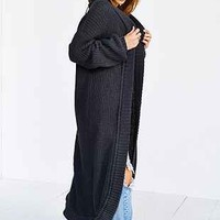 State Of Being Back-Zip Knit Long Coat - Urban Outfitters