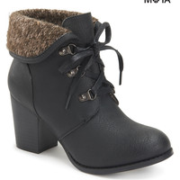 Aeropostale Womens Fold-Over Booties - Black, 6