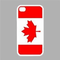 Canada Flag White Iphone 4 - Iphone 4s Case: Amazon.ca: Home & Garden