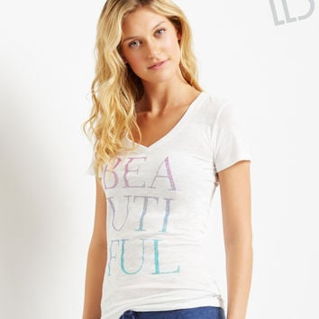 LLD Sparkle Beautiful V-Neck Tee