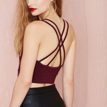 Nasty Gal Holy Crop Top