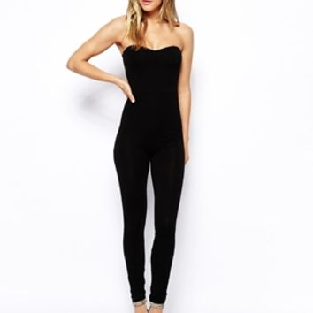 ASOS Bandeau Jumpsuit with Sweetheart Neck at asos.com