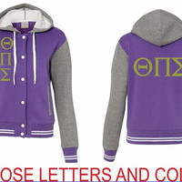 College Women sorority university Sweatshirt Jacket