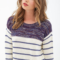 Striped & Marled Sweater