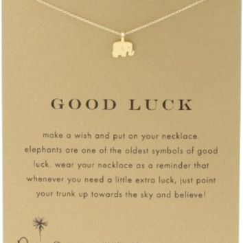 """Dogeared Reminder """"Good Luck"""" Gold Dipped Boxed Elephant Pendant Necklace:Amazon:Jewelry"""