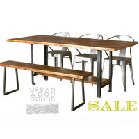 Machine Age Reclaimed Wood Dining Table