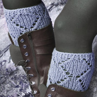 Short Knit Boot Cuffs, Short Leg Warmers. Knitted Boot Cuffs Gray, GREY Boot Socks, Accessory Woman, Boot Topper, Boot Tops, Winter Fashion