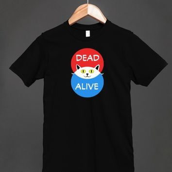 Schrodinger's cat - Dead and Alive - Venn Diagram T shirt - Many colors and styles to choose from