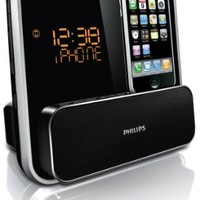 Philips DC315/37 Speaker System for 30-Pin iPod/iPhone with LED Clock Radio (Black):Amazon:MP3 Players & Accessories