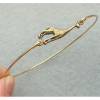 Giraffe Bangle Bracelet