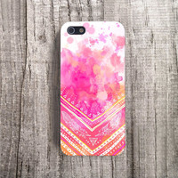 BRIGHT iPhone Case, Spring iPhone Case, Feather iPhone Case, Paint iPhone 4 Case, Neon Samsung S4, Tribal iPhone 5 Case, Pink, Boho, Aztec