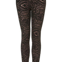Paisley Lace Leggings - Scandi Girl  - Collections