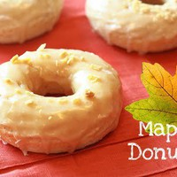 Lemon Drop: Baked Cake Donuts with Maple Glaze
