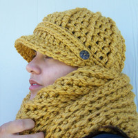 Hat and Scarf Set- Mustard Yellow SAVE 8 DOLLARS