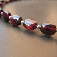 Darling Garnet and Sterling Silver Choker