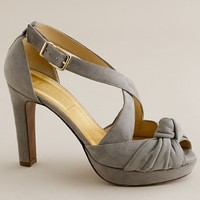 Women's shoes - evening - Love-me-knot suede platform heels - J.Crew