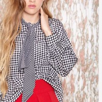 Vintage Saint Laurent Check Yourself Blouse