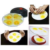 4Eggs Heart-shaped Kitchen Tool Microwave Oven Cooker Steamer IOU Mold Non-stick:Amazon:Kitchen & Dining