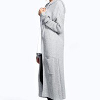 Lily Loose Knit Hooded Maxi Cardigan