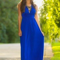 Luxe Be A Lady Maxi Dress-Royal