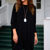 Carry My Heart Tunic, Black