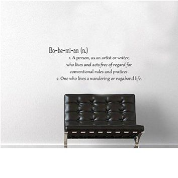 Bohemian Definition Wall Decal