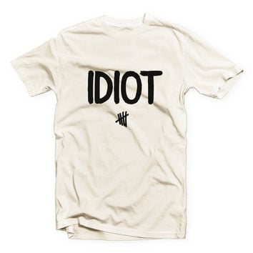 IVO-556 - IDIOT - Michael Clifford - 5SOS - 5 Seconds of Summer - Cotton Blend Fashion T-Shirt