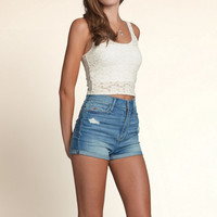 Manhattan Beach Slim Crop Top