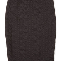 ModCloth Mid-length Pencil Command the Campaign Skirt