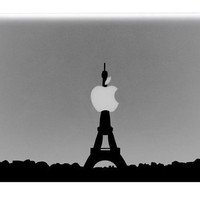 Eiffel Tower Skyline Macbook Decal / Macbook Sticker / Laptop Decal