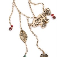 Short Necklace with Multiple Charms
