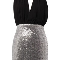 Chain Neck Bodycon Dress